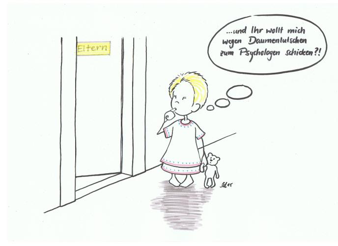 Kind vor Schlafzimmer