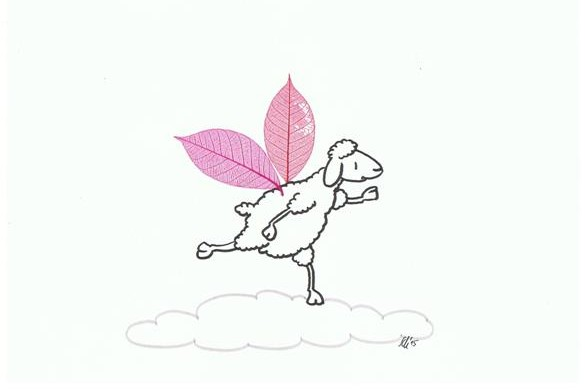 Schaf mit Flügel